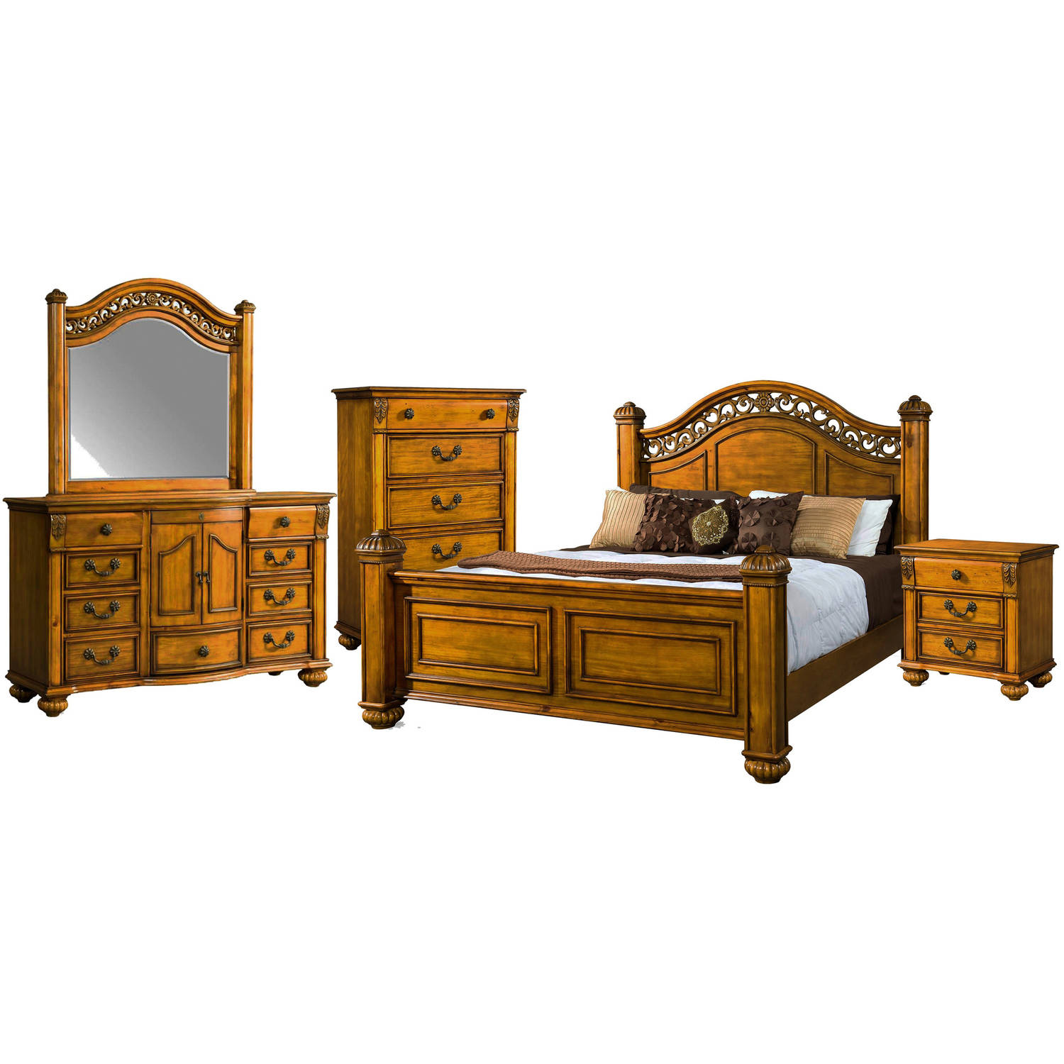 Picket House Furnishings Barrow Queen Poster 5PC Bedroom Set