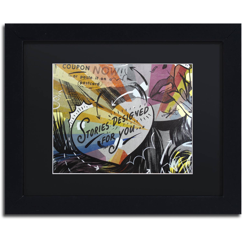 "Trademark Fine Art ""Coupon Stories"" Canvas Art by Dan Monteavaro Black Matte, Black Frame"