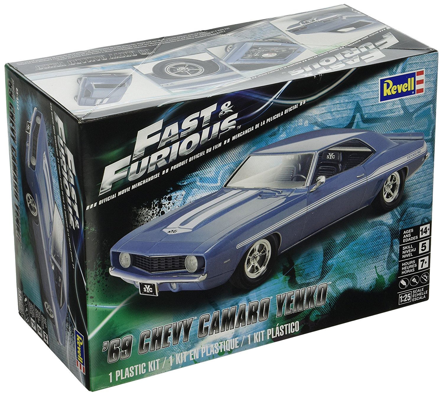 Fast & Furious 69 Chevy Yenko Camaro Model Kit, Construct your own Fast & Furious car with... by