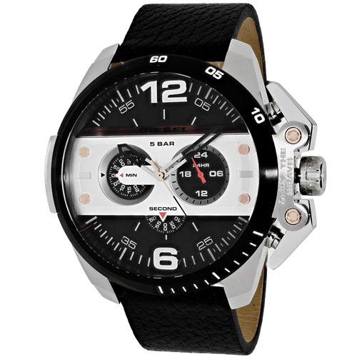 Diesel Men's Ironside Leather Strap Watch