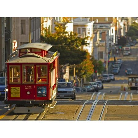 Cable Car on Powell Street in San Francisco, California, USA Print Wall Art By Chuck (Powell Street In San Francisco)