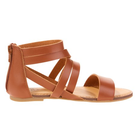 f7b3b974e45ba Wonder Nation - Girls  Solid Strap Gladiator Sandals - Walmart.com