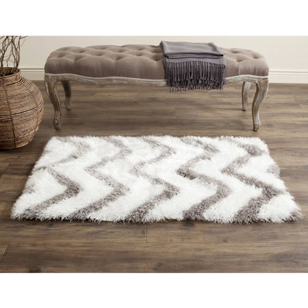 Safavieh Barcelona Carmella Zigzag Stripes Shag Area Rug or Runner (Regina Barcelona)