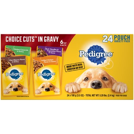 Pedigree Choice Cuts In Gravy Adult Wet Dog Food Variety Pack 24