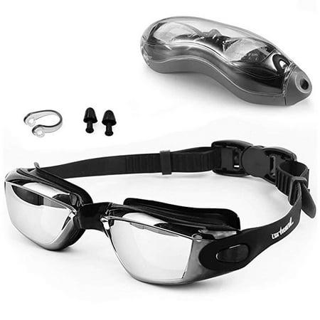 C.F.GOGGLE Anti Fog Swimming Goggles professional UV Protection Swim Goggle Glasses for Adult Men Women Youth Kids Child Girls Boys, Blue/ Black