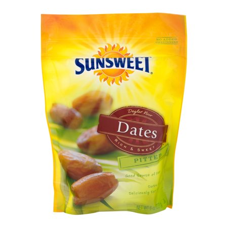 (4 Pack) Sunsweet Pitted Dates, 8.0 OZ