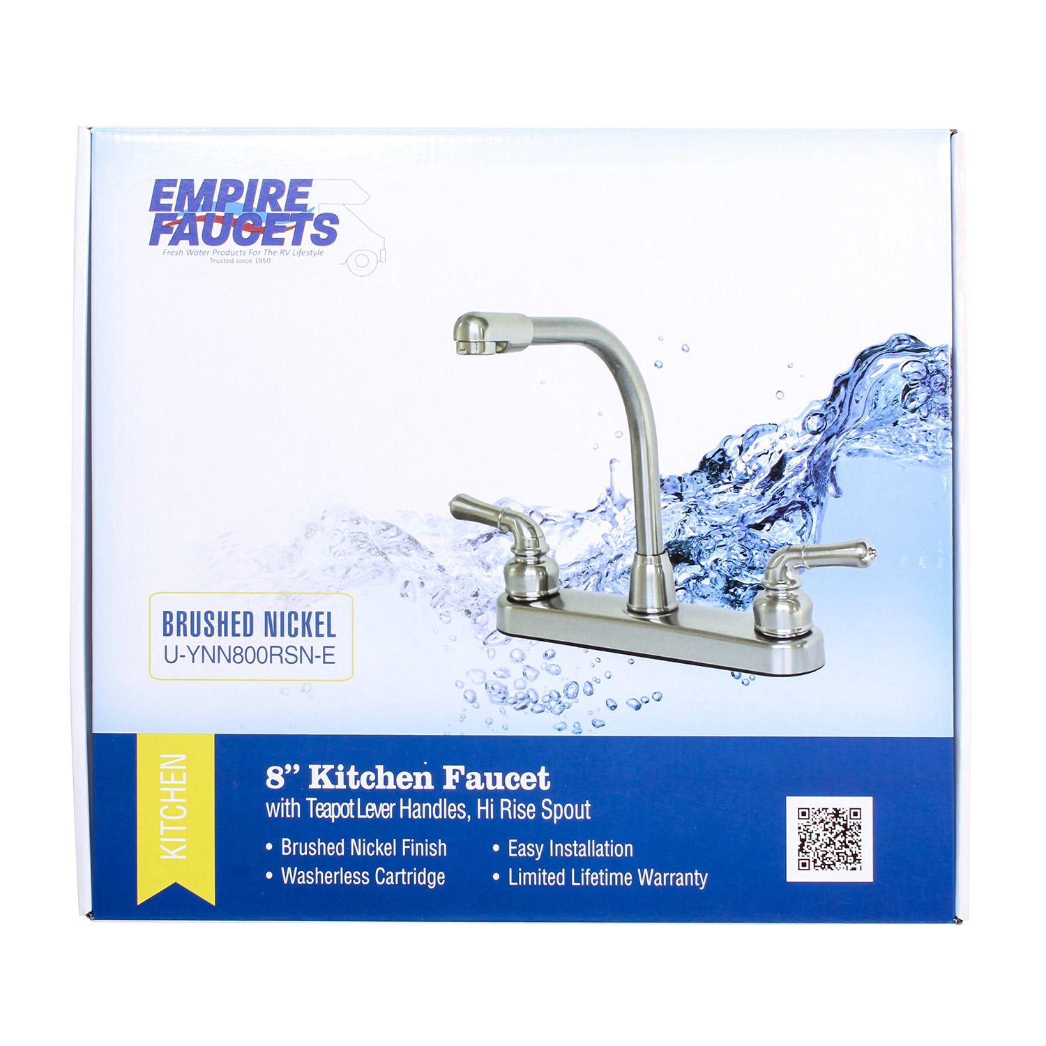 Empire Faucets 8 Rv Marine Kitchen Faucet Head Replacement And Nickel Handles Walmart Com Walmart Com