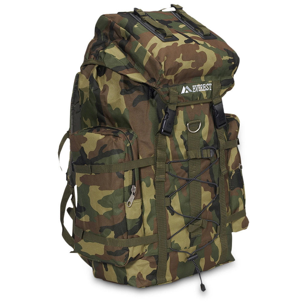 Woodland Camo Hiking Pack
