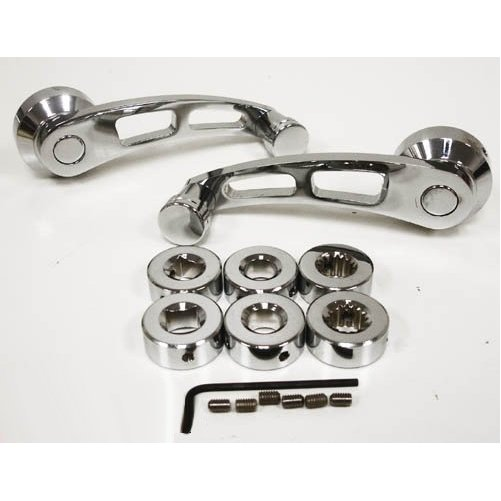 Chrome Billet Aluminum Window Crank Kit - Chevy/Ford/Mopar