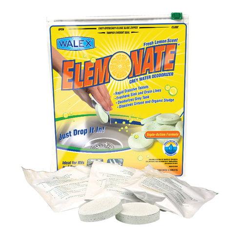 Elemonate RV/Marine Grey Water Deodorizer Tablets