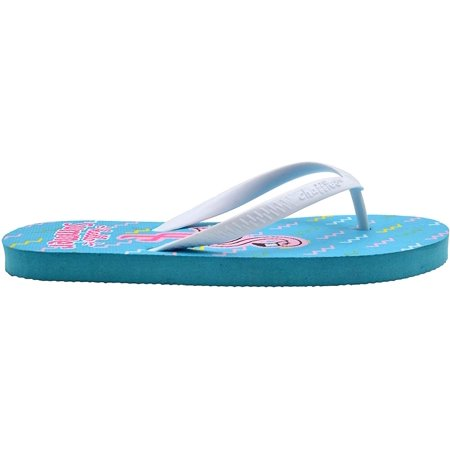 Chatties Girls Flip Flops 2-3 M US Little Kid Cute Mix N Match Print Slip On Summer Thong Sandal Summer Vibes F- Hello Summer Kids Flip Flop