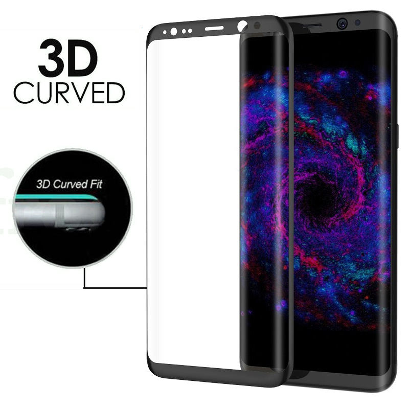 3D Curved Tempered Glass Full Cover Screen Protector For Samsung Galaxy S8  MZ
