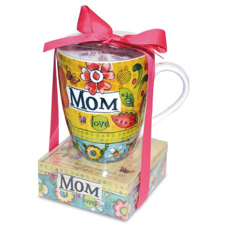 - Mom is Love Mug and Memo Pad- Mothers Day Gift Set With Sripture