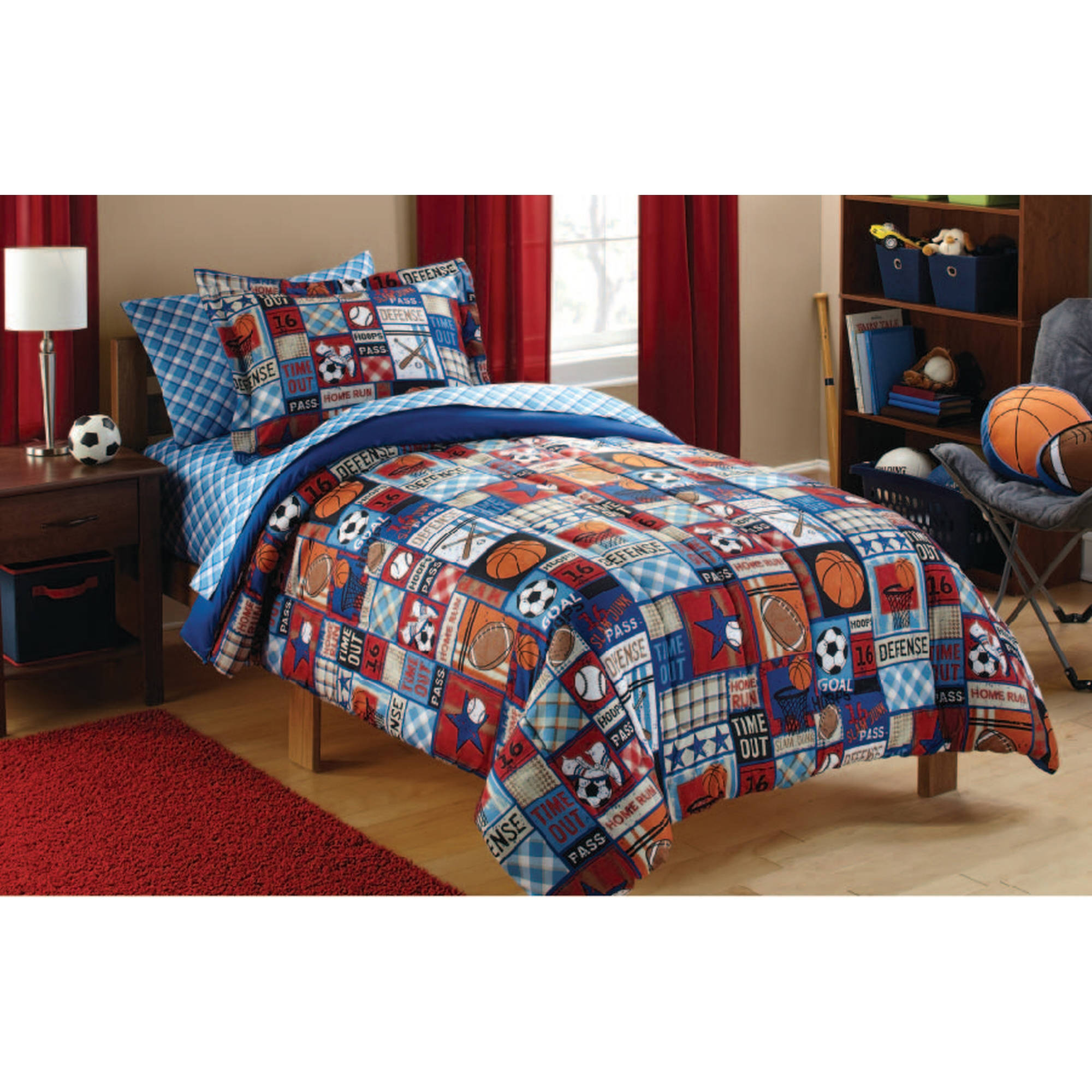Mainstays Kids Sports Patch Duvet