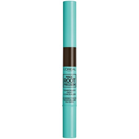 L'Oreal Paris Magic Root Precision Temporary Gray Hair Color Concealer Brush, 4 Dark Brown, 0.05 fl.