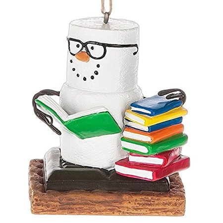 S'mores Book Club Smores Stack of Books Book Christmas Tree Ornament By Midwest Seasons Ship from US ()