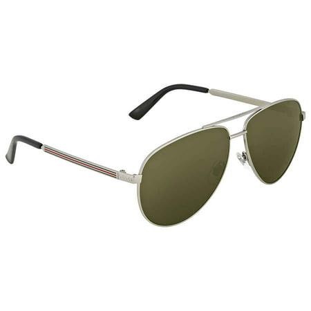 Gucci Aviator Sunglasses GG0137S 003 Ruthenium/Black 0137