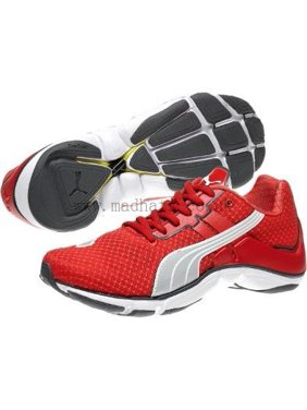 Puma Women's Mobium Elite Running Shoe, Hibiscus/Puma Silver/White, 11 B(M) US