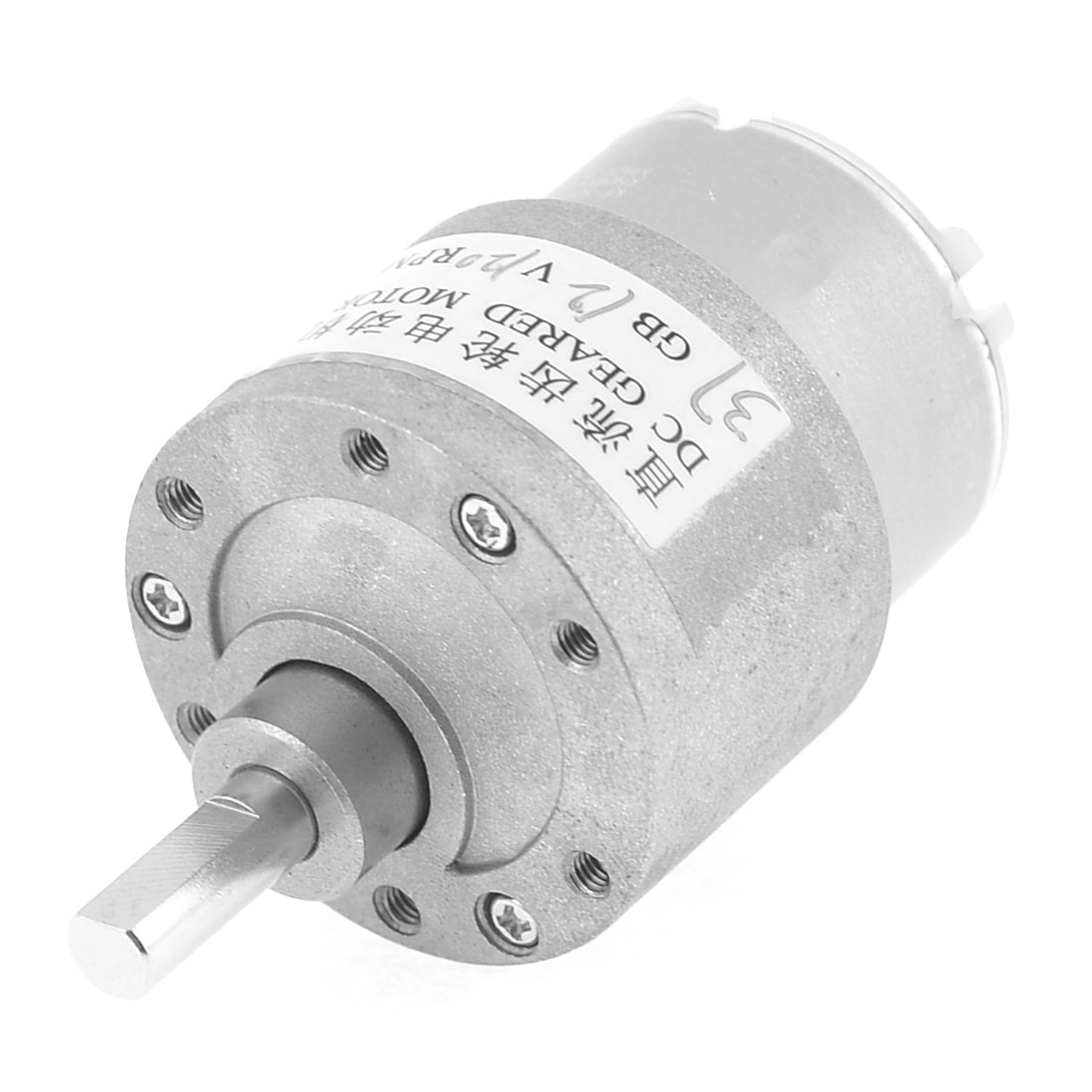 120RPM 6mm Shaft Dia 2 Terminals Electric Gearbox Geared Motor 12VDC - image 1 of 1
