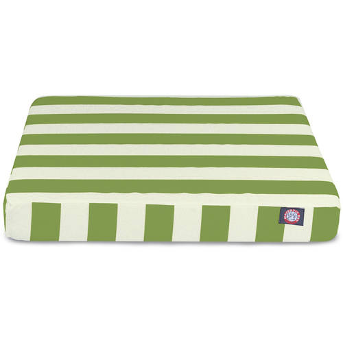 Vertical Stripe Small Orthopedic Memory Foam Rectangle Dog Bed
