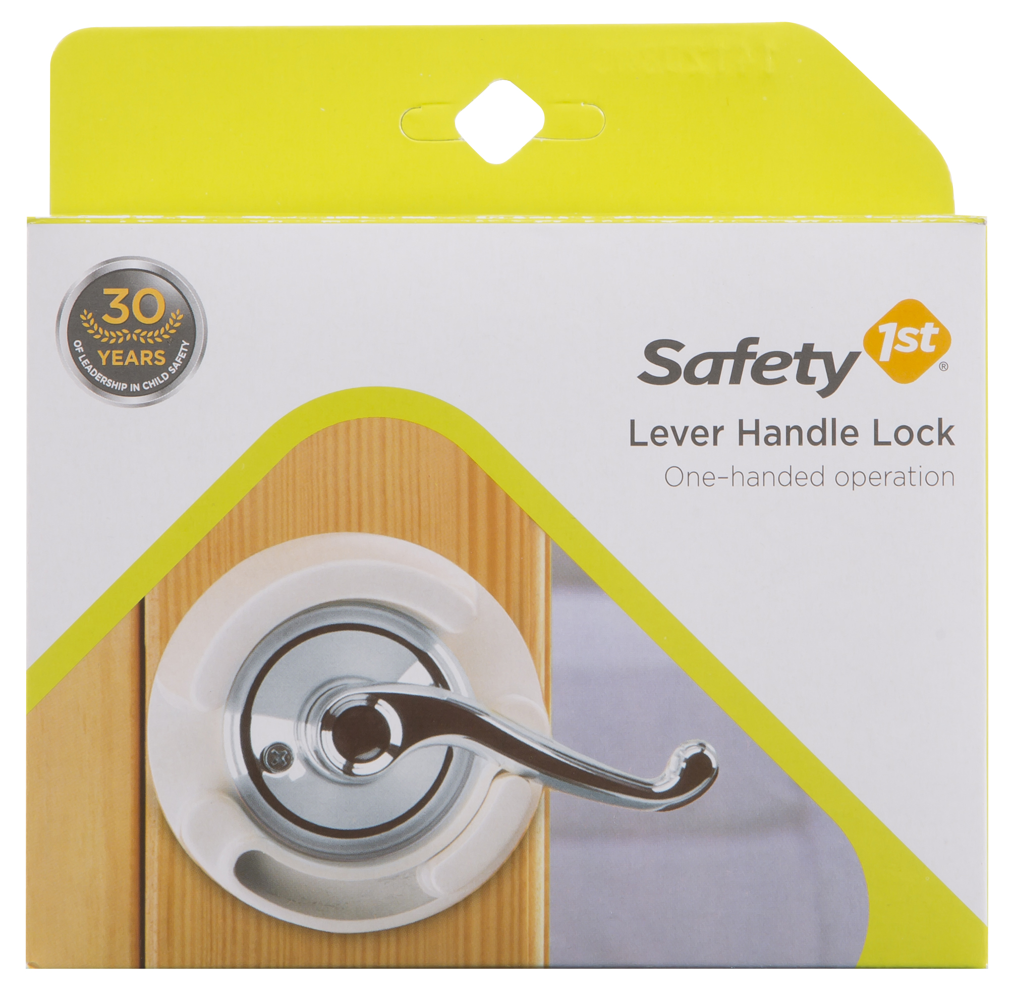 Safety 1����� Lever Handle Lock, White