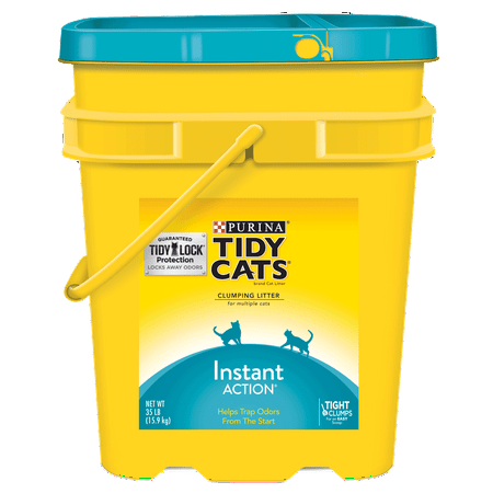 - Purina Tidy Cats Clumping Cat Litter; Instant Action Multi Cat Litter - 35 lb. Pail