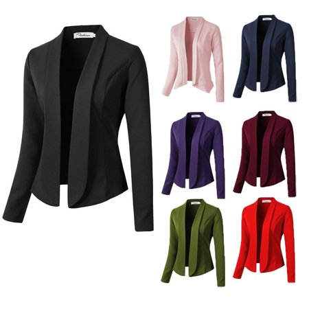 New Fashion Candy Colors Casual Long Sleeve Blazer Jacket Business Slim Suit - Kids Green Blazer