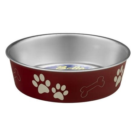Loving Pets Bella Bowls Medium Merlot, 1.0