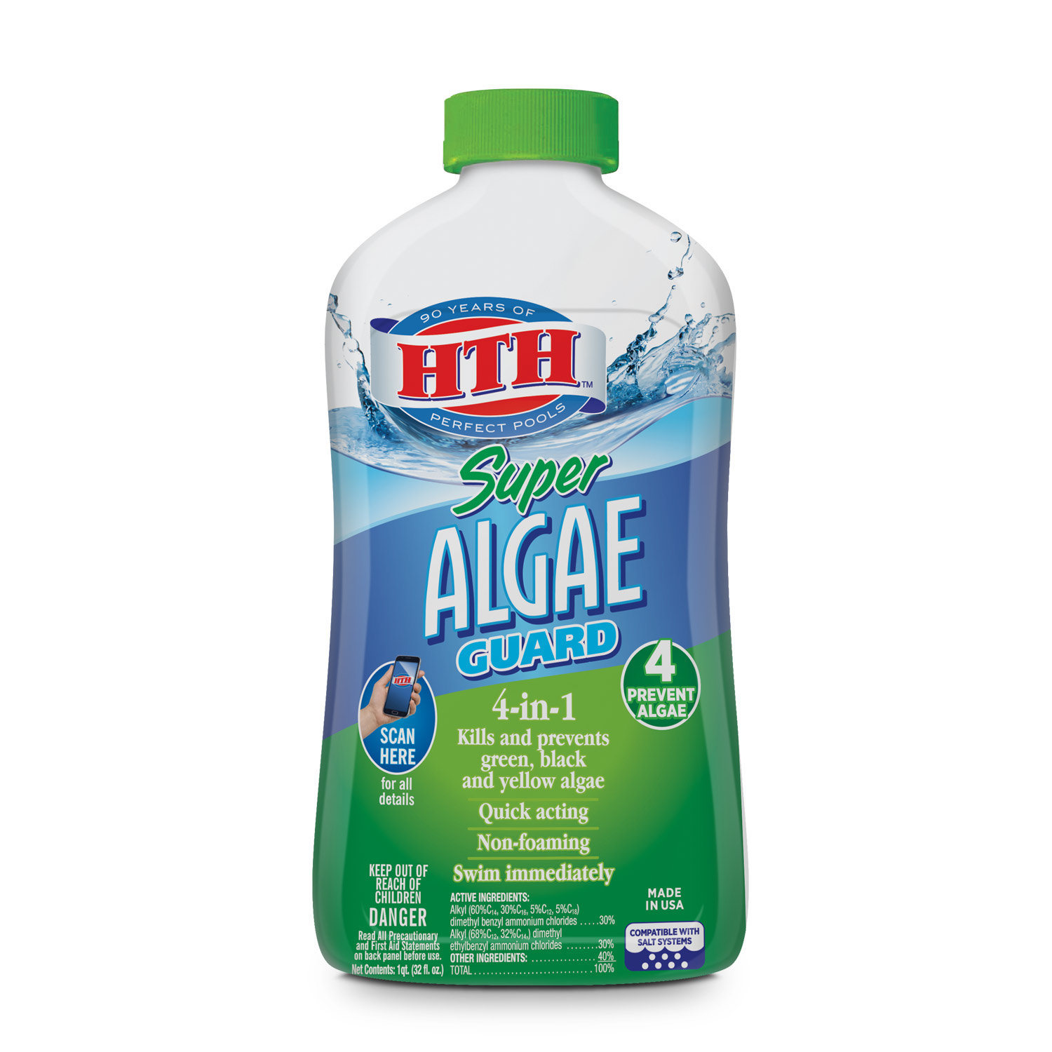HTH Super Algae Guard for Swimming Pools, 1 qt.
