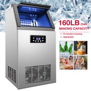 Built-In Stainless Steel Commercial 160Lbs/24H Ice Maker Portable Ice Machine