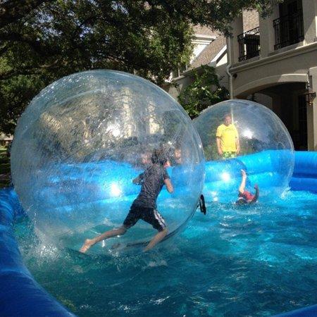 Bowser Ball - 2M Water Walking Ball Inflatable PVC Ball FREE Blower Zorb Ball with Zipper