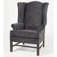Comfort Pointe Chippendale Wing Chair in Elizabeth Charcoal