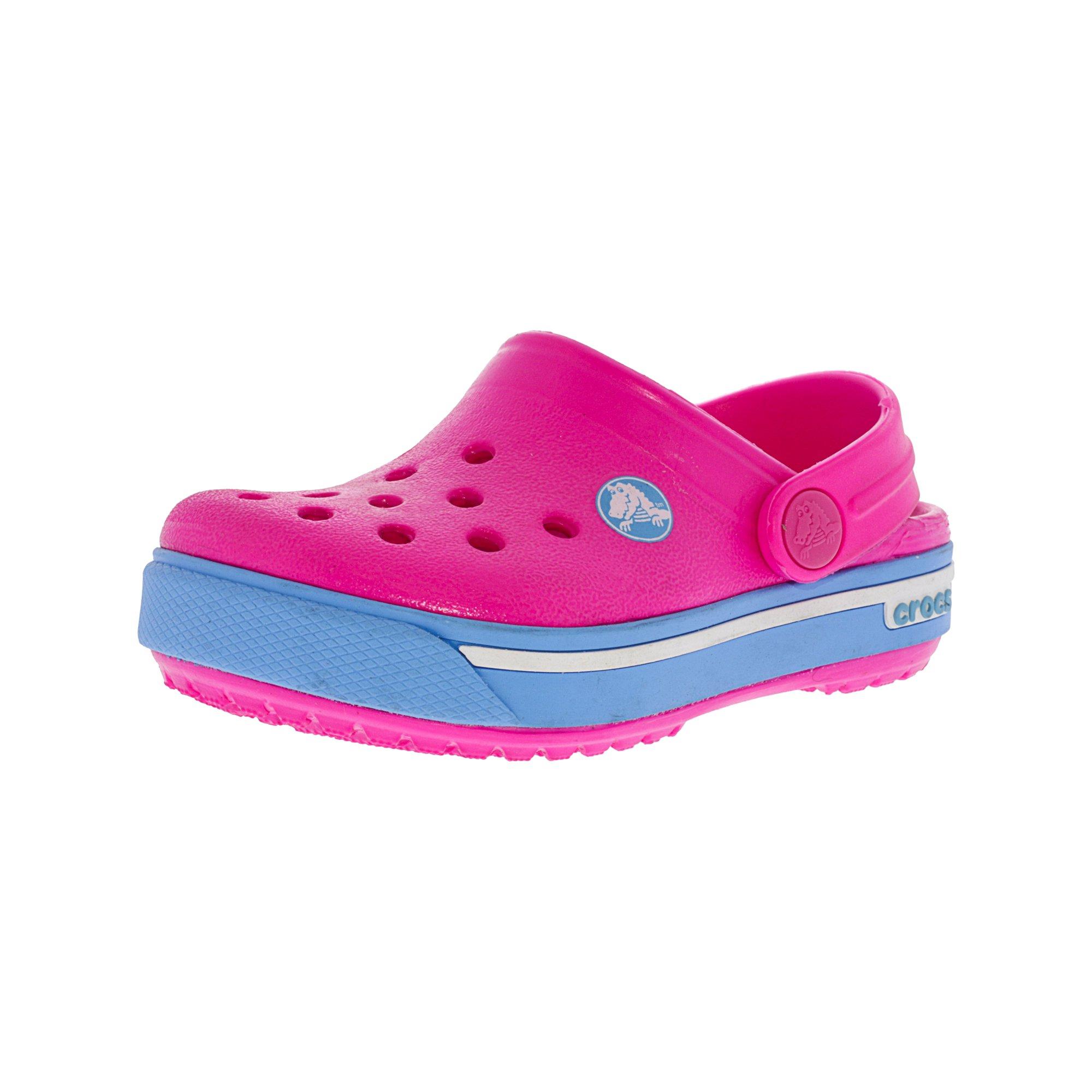 16596b67a Crocs Crocband Ii.5 Clog Neon Magenta   Bluebell Ankle-High Clogs - 4M