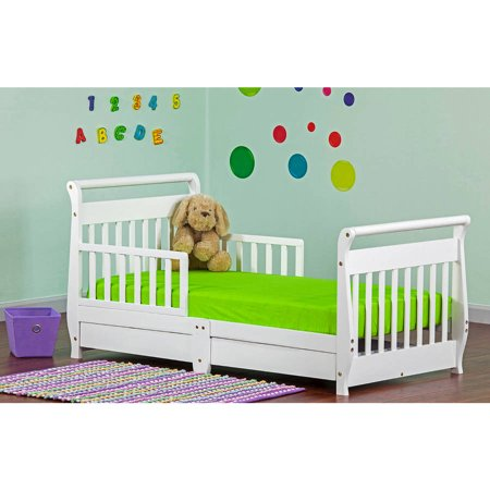 Dream On Me Sleigh Toddler Bed With Storage Drawer Choose