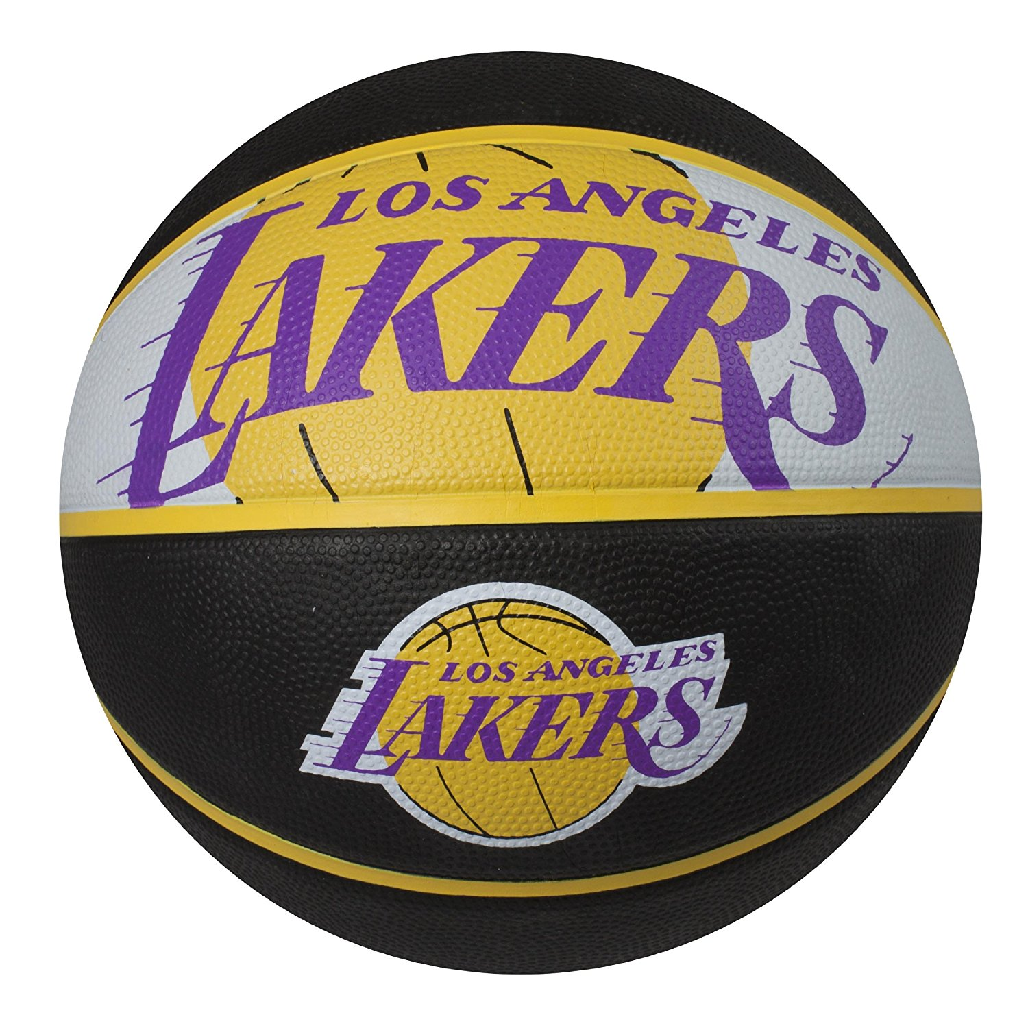 NBA Courtside Team Outdoor Rubber Basketball, Team Logo..., By Spalding Ship from US