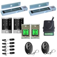 FPC-5158 Two Door Access Control Outswinging Door 600lbs Electromagnetic Lock with Visionis Wireless Remote and Outdoor Keypad Kit