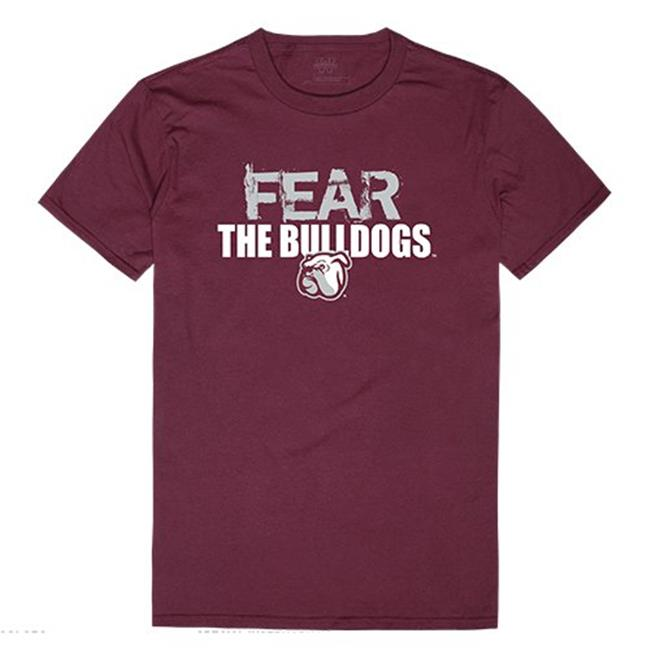 W Republic Apparel 518-133-327-01 Mississippi State University Fear Tee for Men, Maroon - Small