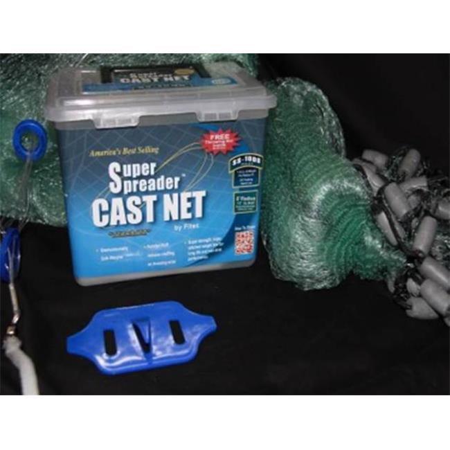Fitec 11580 8 ft. SS1000 Super Spreader Cast Net 0.5 in. ...