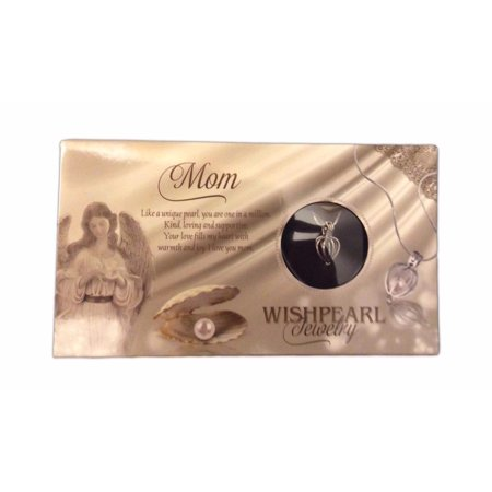WishPearl Necklace Kit, Simulated Pearl in an Oyster - (Mother Of Pearl Silver Plated)