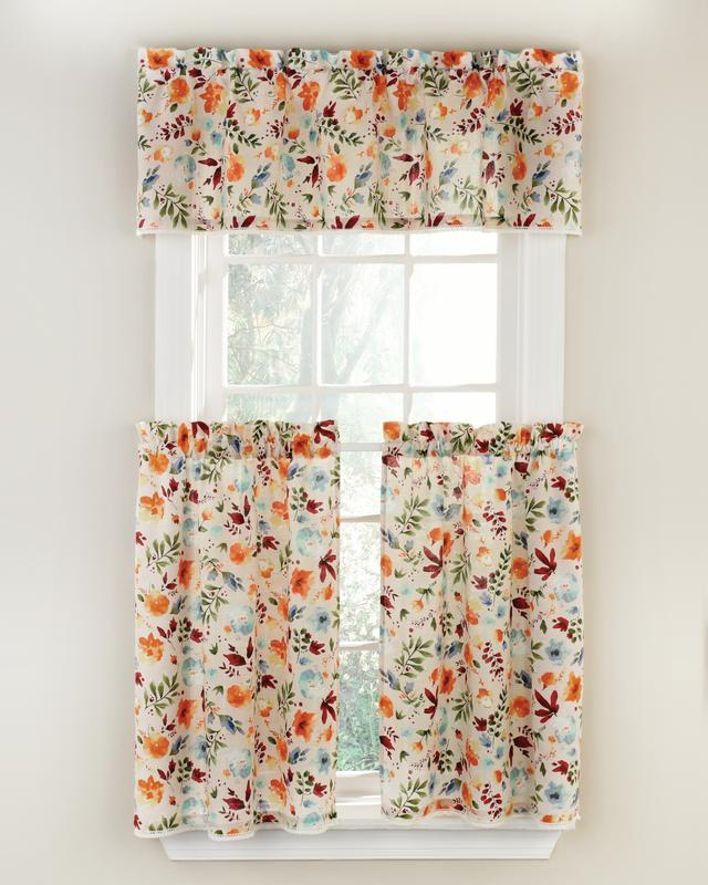 country home decor Daisy cafe curtains kitchen curtains kitchen cafe curtains spring home decor country cafe curtains cafe curtains