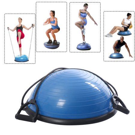 Costway Ball Balance Trainer Yoga Fitness Strength Exercise Workout W Pump  Blue