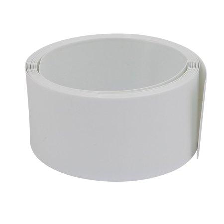 29.5mm Flat Width 2M Long PVC Heat Shrinkable Tube White for 18650 Battery Pack - image 2 de 2