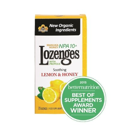Pacific Resources Propolis Lozenges  Lemon   Honey  20 Ct