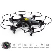 Cheerwing CW6 2.4Ghz 4CH Mini RC Quadcopter Hexacopter Drone UFO with 2MP HD Camera Headless Mode