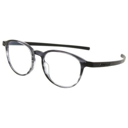 bab05eef9f TAG Heuer 3953 Reflex 3 Round Prescription Rx Ready Eyeglasses Frames-Grey  - Walmart.com
