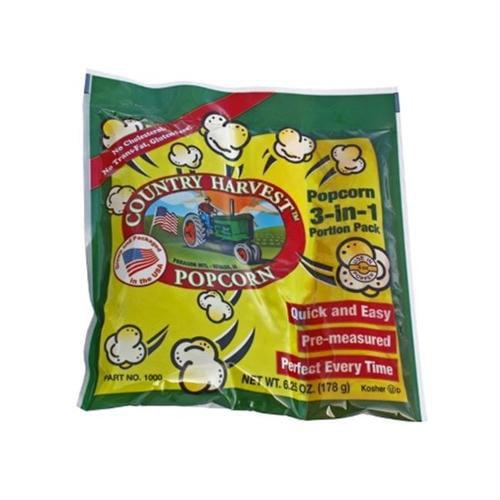 Paragon - Manufactured Fun 1100 Country Harvest 4 oz Tri-Pack Popcorn - 40 Pack Mega Case