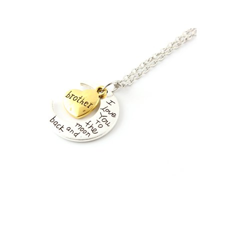 Fashion Jewelry I Love You Family Mom Birthday Gift Pendant Necklace for Women Girl - Brother - Birthday Necklaces