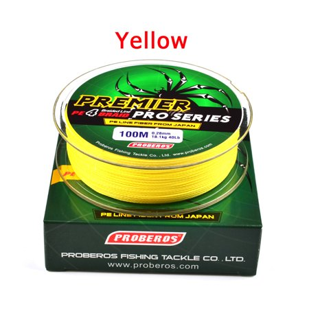 328 ft/109 Yards Braided Fishing Line, Strong Multifilament Line Color:Yellow (Best 2lb Fishing Line)