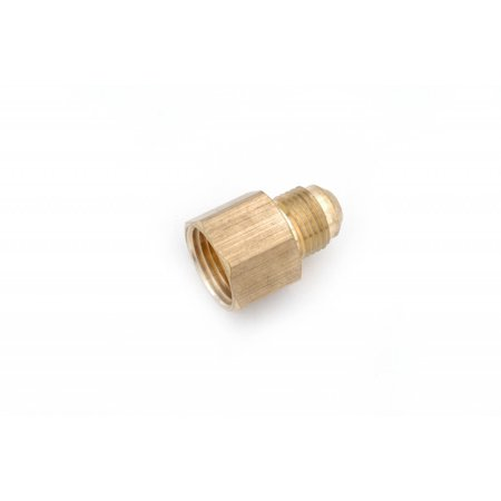Anderson Metal 704046-0604 Fresh Water Adapter Fitting LF 7406 Series 3/8 Inch Outside Diameter Tube 45 Degree SAE Flare x 1/4 Inch Female Pipe Thread; Straight; Brass; Single; Lead Free - image 1 of 1