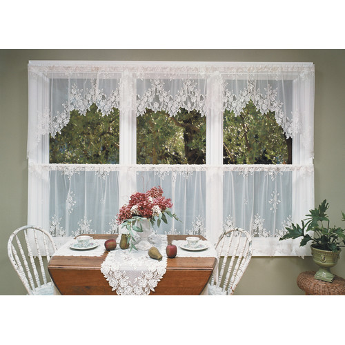 Heritage Lace Tea Rose Swag Tier Curtain